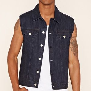21 MEN - denim jean vest